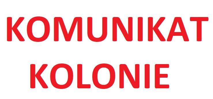 KOLONIE 2019 Żerków, Krościenko ZEBRANIE ORGANIZACYJNE 17.06.2019r.