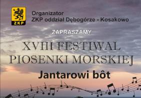 """XVIII Festiwal Piosenki Morskiej """"Jantarowi Bôt"""""""